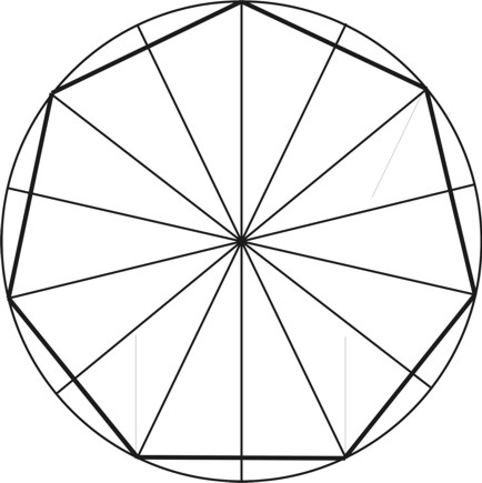 Heptagon from a Circle